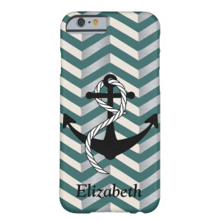 Chevron Geometric Nautical Name Phone Case