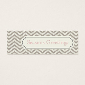 Chevron Gift Tags, Profile Cards