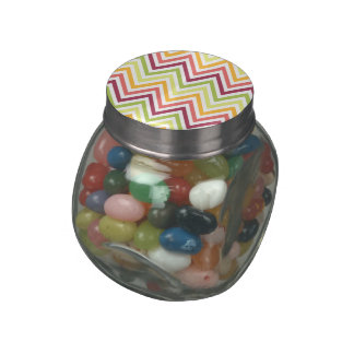 Chevron Glass Jelly Belly™ Glass Jar