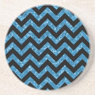 Chevron Glitter Look Coaster