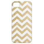 Chevron Gold Faux Glitter iPhone 5/5S Case