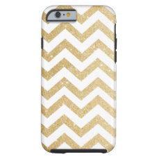Chevron Gold Faux Glitter Phone Case