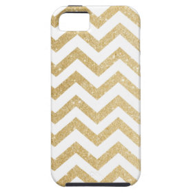 Chevron Gold Faux Glitter Phone Case iPhone 5/5S Cases
