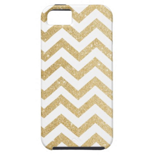 Chevron Gold Faux Glitter Phone Case iPhone 5/5S Cases