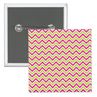 Chevron green pink zigzag pattern colorful fun pins