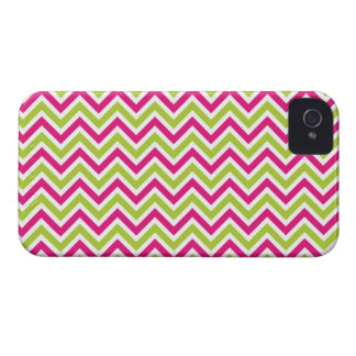 Chevron green pink zigzag pattern funky fun bright iPhone 4 case