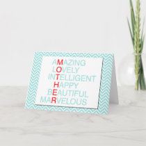 Chevron-Greeting Card-Mother's Day Card