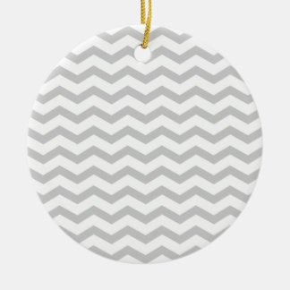 Chevron gris adorno de navidad