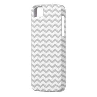 Chevron gris iPhone 5 carcasas