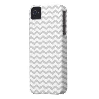 Chevron gris Case-Mate iPhone 4 funda