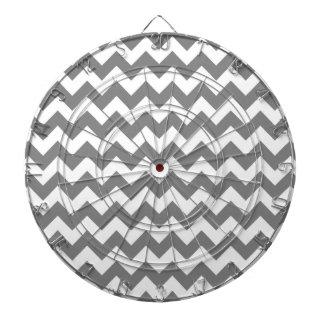 Chevron gris oscuro; zigzag tablero dardos
