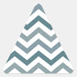 Chevron gris reluciente pegatina triangular