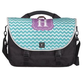 Chevron H Laptop Bag