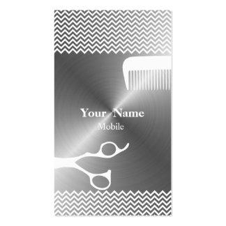 Chevron Hair Stylist Business Card