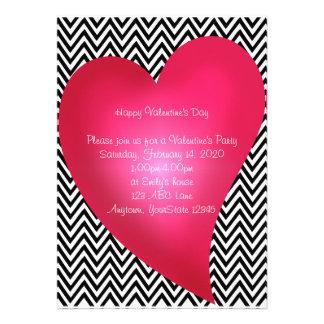 Chevron Heart Valentine s Day Party Invitation