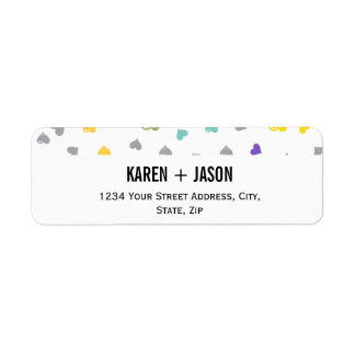 Chevron Hearts Label