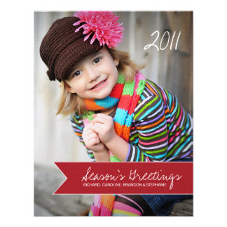 Chevron Holiday Photo Cards Custom Invitation