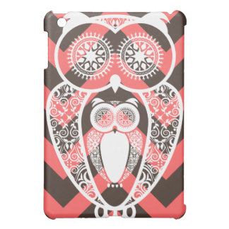 Chevron Ice Cream Baby Owl Preppy Pink iPad Mini Covers
