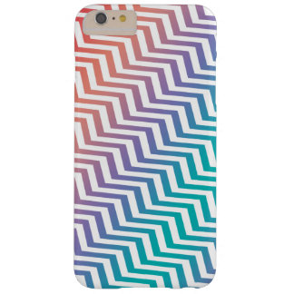 Chevron in Rainbow Colors Barely There iPhone 6 Plus Case