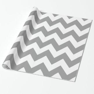Chevron intrépido gris papel de regalo