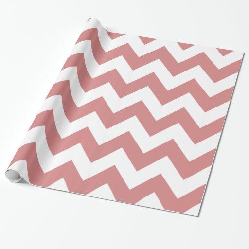 Chevron intrépido rosado papel de regalo