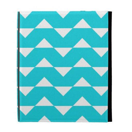 Chevron iPad 2/3/4 Case - Aqua Pattern iPad Case