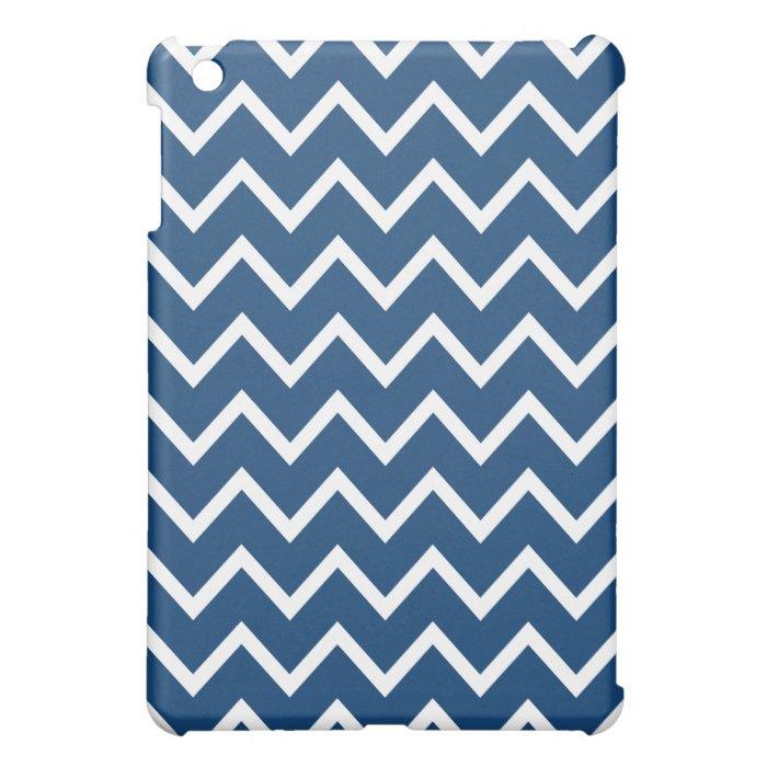 Chevron iPad Mini Case - Monaco Blue