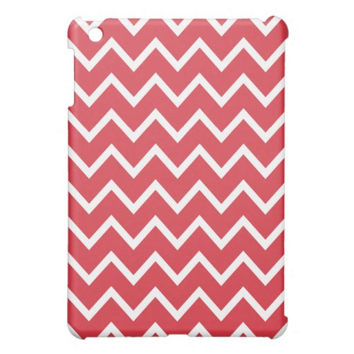 Chevron iPad Mini Case - Poppy Red
