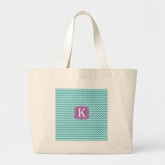 Chevron K Jumbo Tote Bag