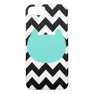 Chevron Kitty Cat Cute iPhone 7, Barely There Case