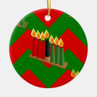 chevron kwanzaa ceramic ornament