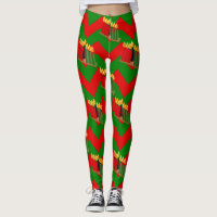 Kwanzaa Christmas leggings