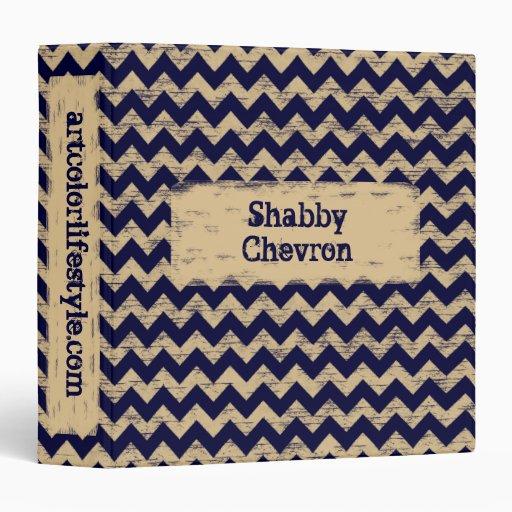 """Chevron lamentable - azul marino carpeta 1 1/2"""""""