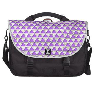 Chevron lavender white  chic elegant pattern laptop computer bag