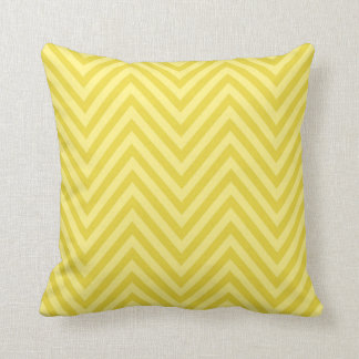 Chevron - lemon yellow cream throw pillows