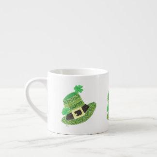 Chevron leprechaun's hat espresso mug