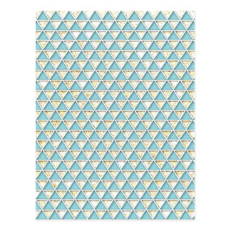 Chevron light teal white chic elegant pattern postcard
