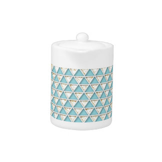 Chevron light teal white chic elegant pattern