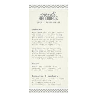 Chevron lindo raya la tarjeta del estante diseño de tarjeta publicitaria