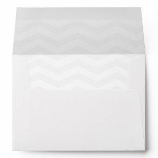 Chevron lined Envelope, for 5 x 7 card Envelope