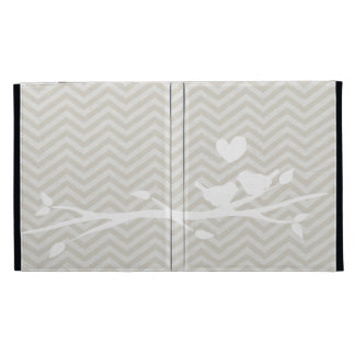 Chevron Love Birds iPad Case