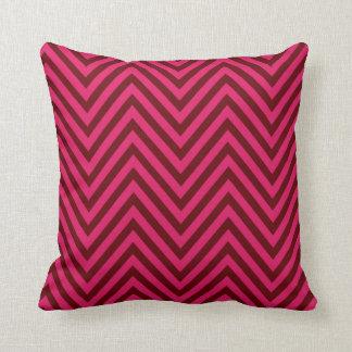 Chevron - magenta claret throw pillows
