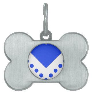 Chevron manchó 6 Blue.png Placas De Mascota