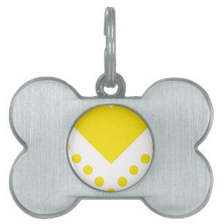 Chevron manchó 6 Yellow.png Placas De Mascota