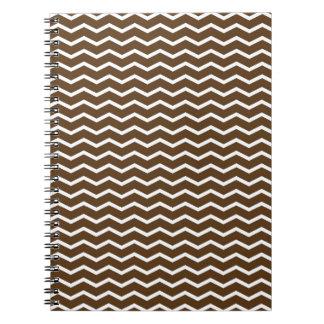 Chevron marrón y blanco Pt68 Cuaderno