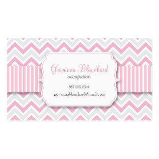 Chevron Modern Stylish Pink Business Cards
