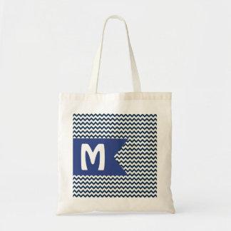 Chevron Monogram Budget Tote Bag