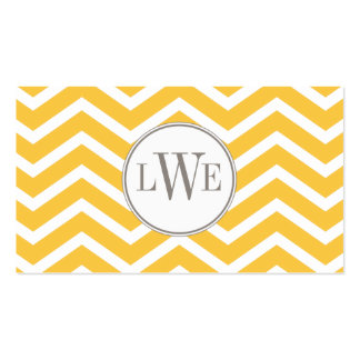 Chevron Monogram Calling Card Double-Sided Standard Business Cards (Pack Of 100)