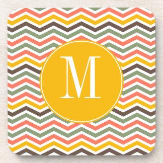 Chevron Monogram Coasters