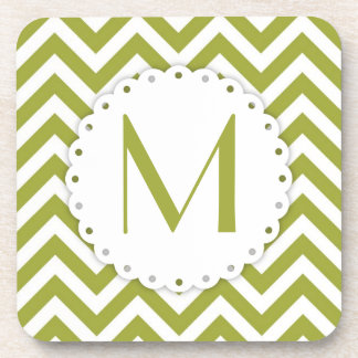 Chevron Monogram Cork Coaster